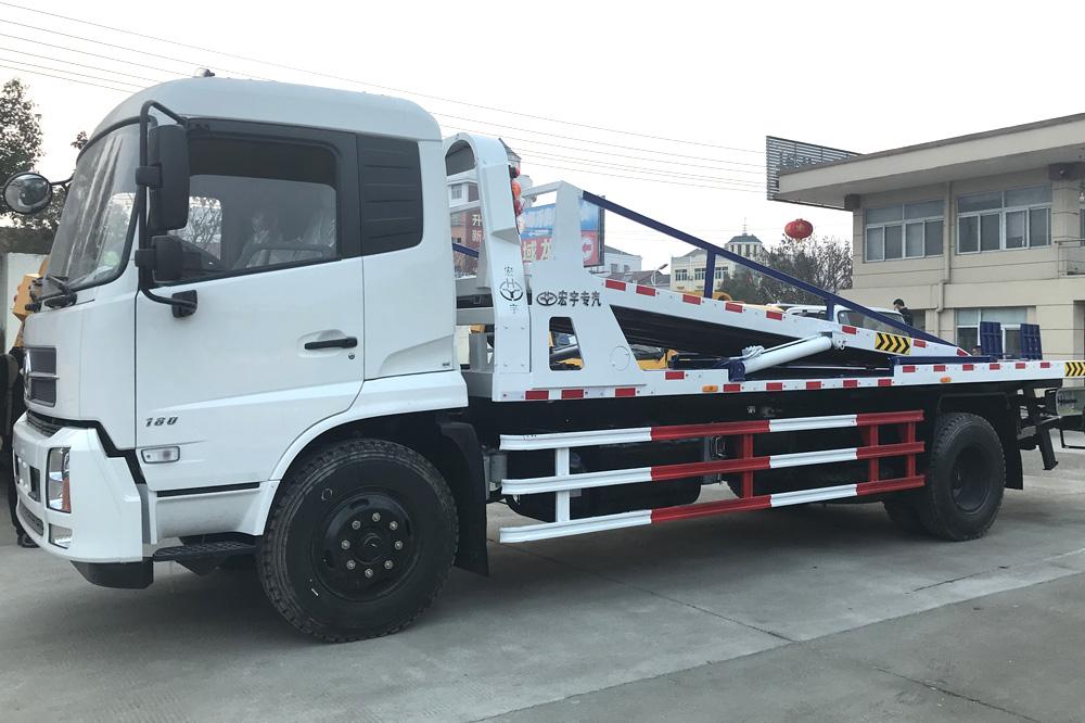 东风天锦一拖三平板清障车