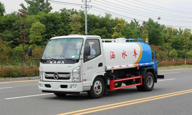 国五凯马5吨蓝牌洒水车