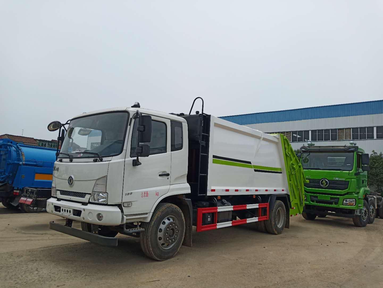 高端东风天锦14吨压缩式垃圾车
