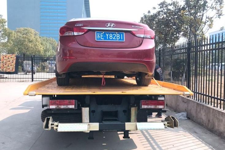 江淮黄牌一拖二清障车  平板长5.6米 (4)
