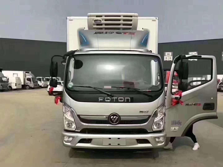 藍牌福田奧鈴4米廂體新款冷藏車