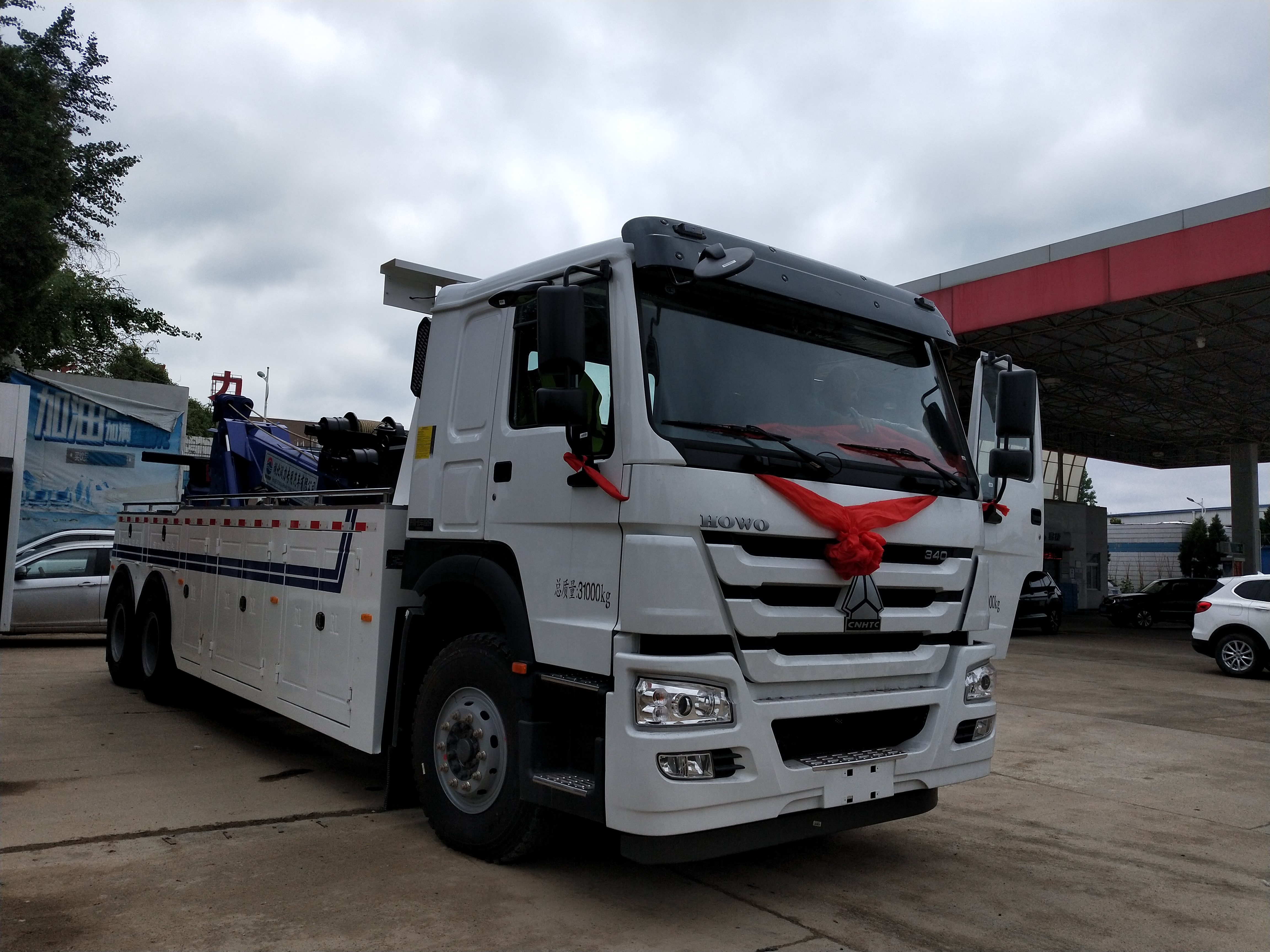 河南焦作市20吨重汽豪沃重型清障车厂家特价可分期