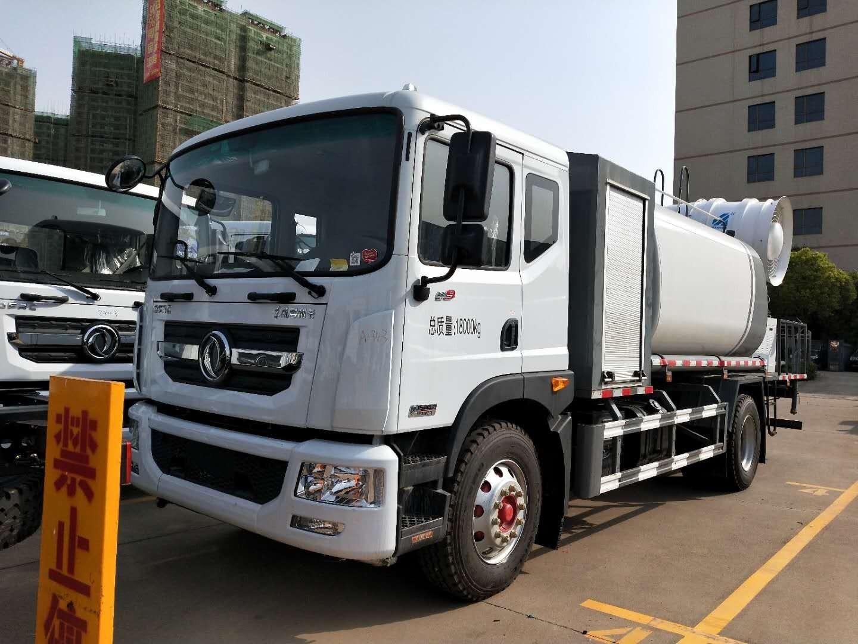60米12吨东风大多利卡D9雾炮车抑尘车洒水车厂家最新价格图片