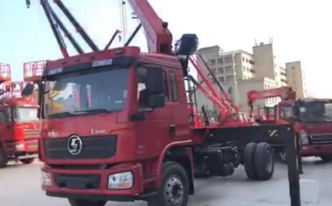 陜汽德龍單橋隨車吊,濰柴220馬力,上裝三一八噸四節臂吊機吊重測試中!好產品耐用!