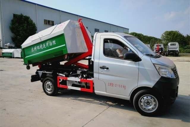 小型勾臂垃圾车3方车厢可卸式垃圾车垃圾车厂家