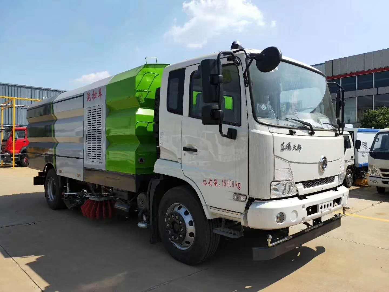 东风天锦吨洗扫车,集洒水,清洗作业于一体图片