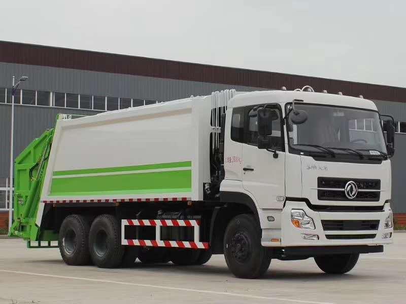东风天龙20吨压缩垃圾车图片