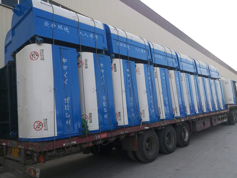 3方垃圾箱专业生产厂家,全国发货可定制各类型号款式。图片