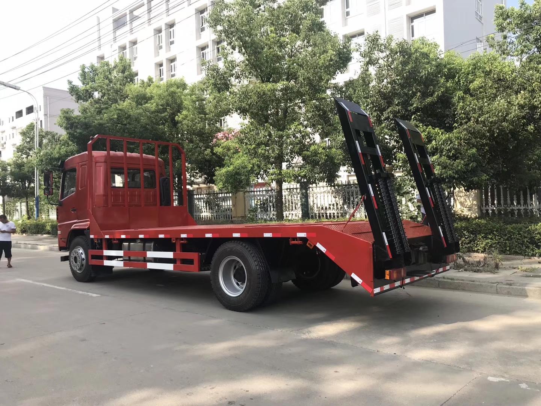 大運玉柴180馬力平板運輸車 挖機運輸車圖片