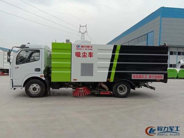 东风5吨吸尘车,适用于洗煤厂,矿场