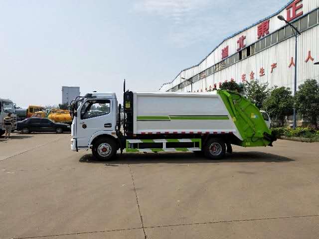 东风多利卡6吨压缩垃圾车视频