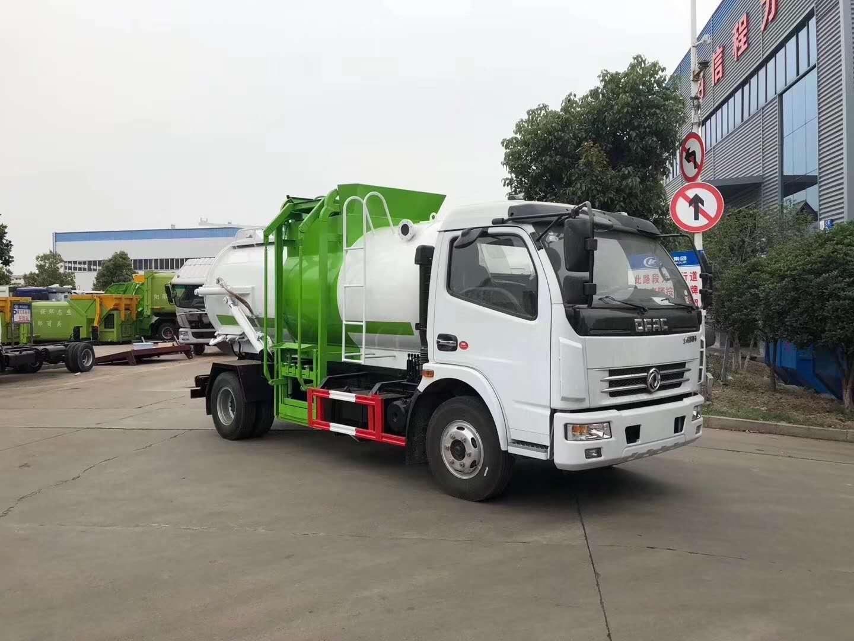 7方餐厨垃圾车车2019年新款_东正东风多利卡餐厨垃圾车夏季促销图片