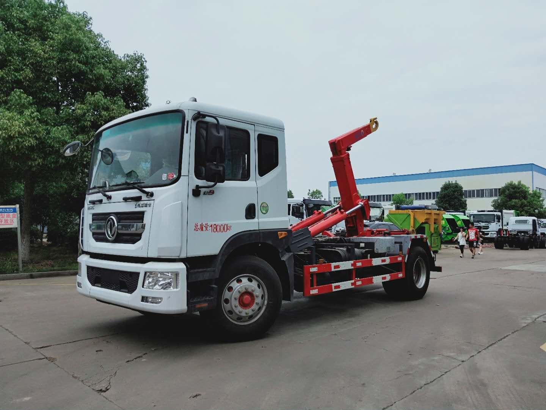 东风多利卡系列12吨勾臂垃圾车视频