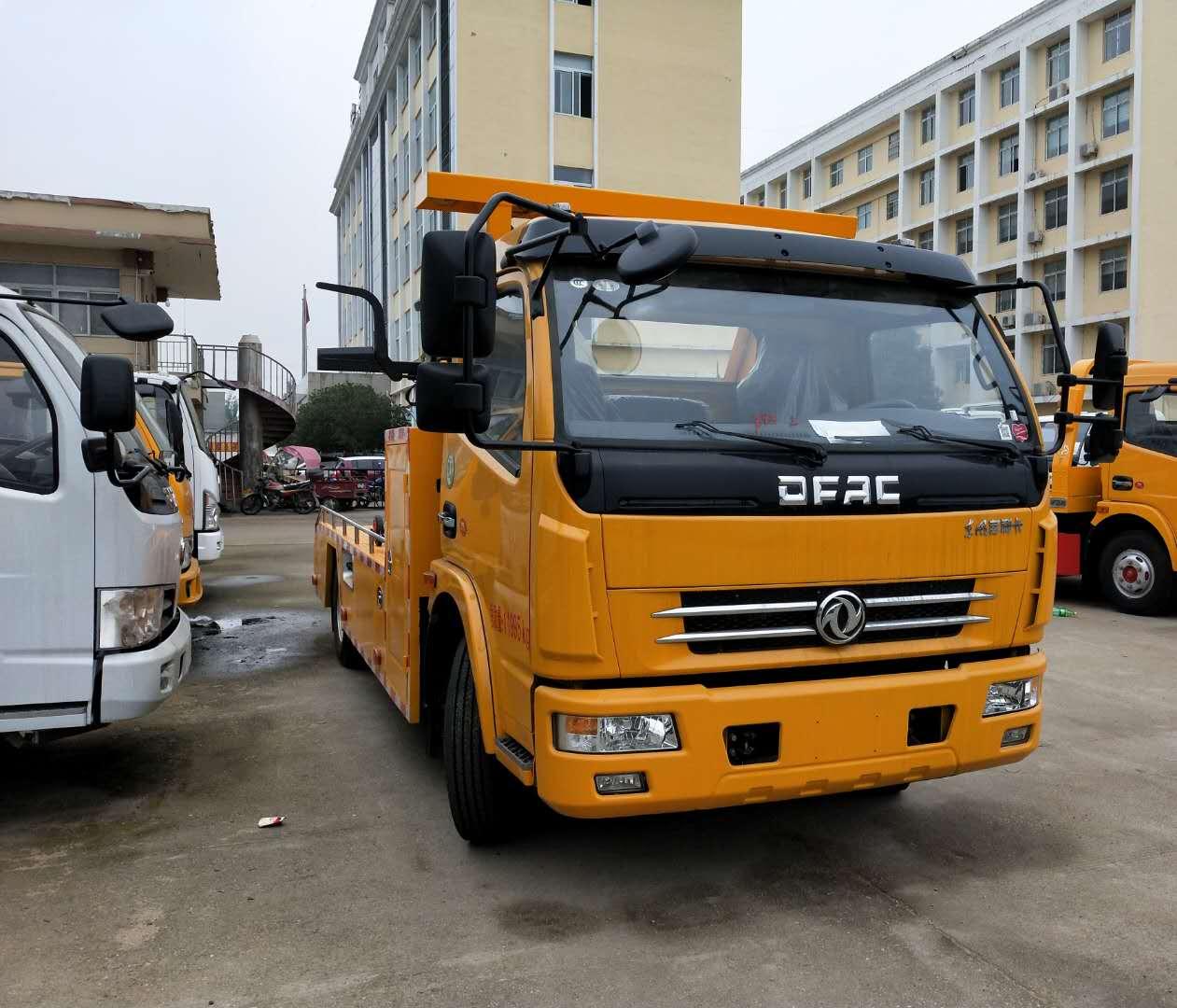 东风多利卡一拖一拖车救援车厂家详细图片图片