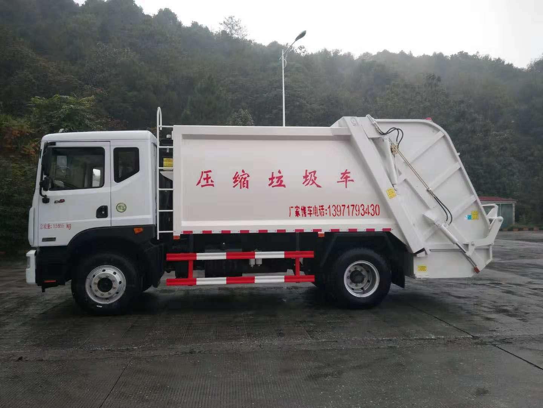 东风多利卡12方压缩垃圾车配置全新升级图片
