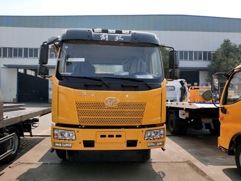 12吨解放J6拖车救援车240马力单桥大拖车仅30万起