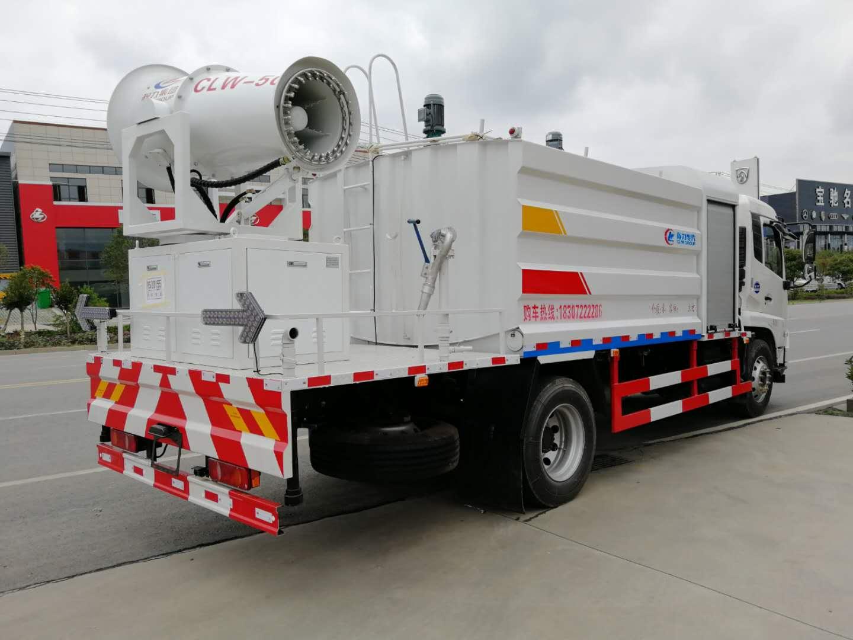 東風多功能抑塵車工地現場作業視頻,可按客戶要求選配40—80米霧泡