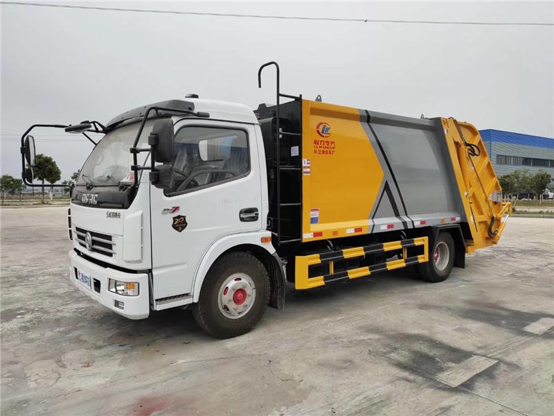 8方压缩垃圾车价格 东风多利卡8吨压缩垃圾车制造商