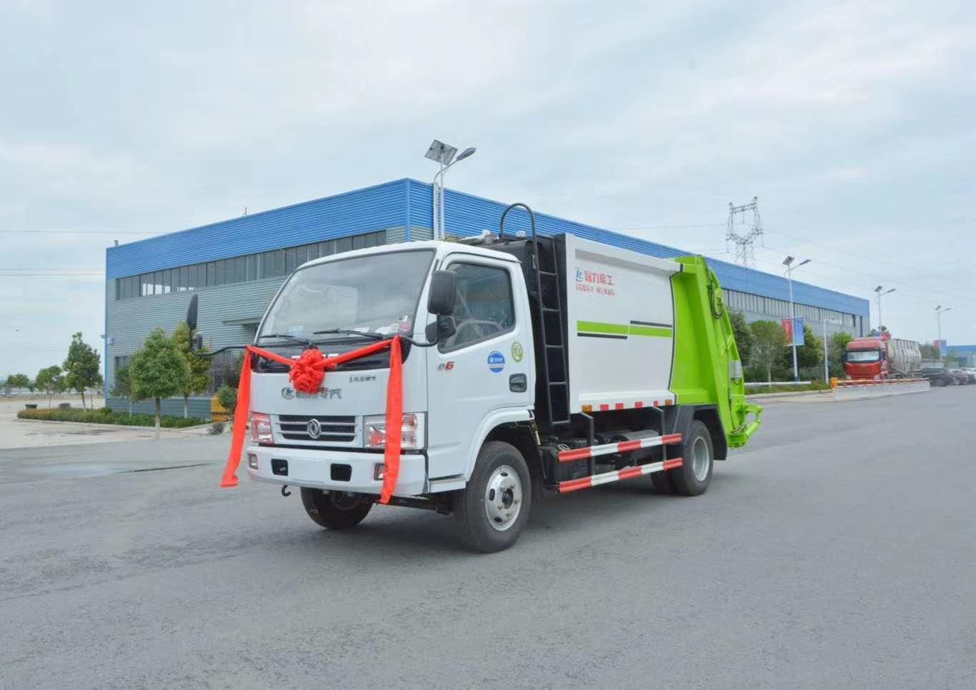 东风小型6方压缩垃圾车价格生产基地_城市垃圾分类行情图片