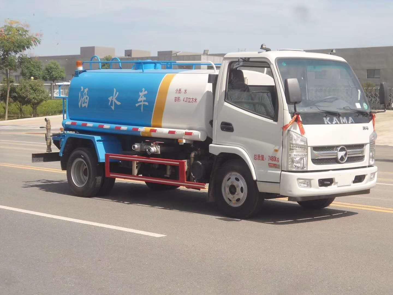 凱馬5方灑水車價格熱銷車型_拉水車送水車園林綠化圖片
