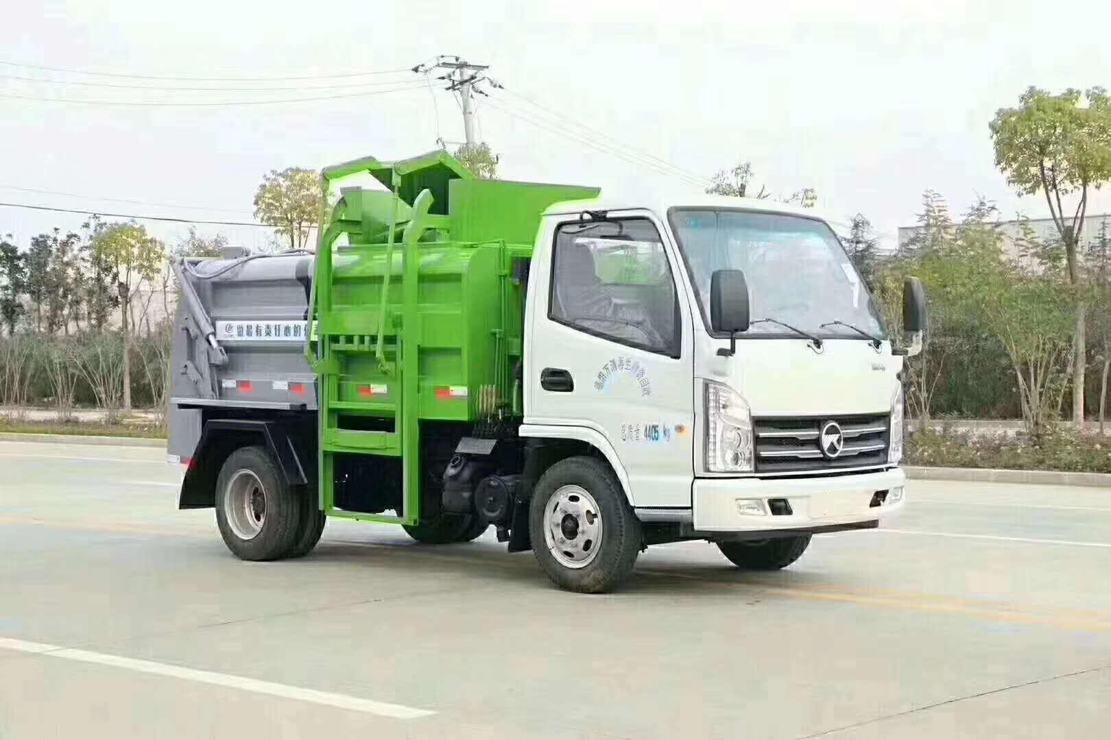 蓝牌餐厨垃圾车 垃圾车分类视频