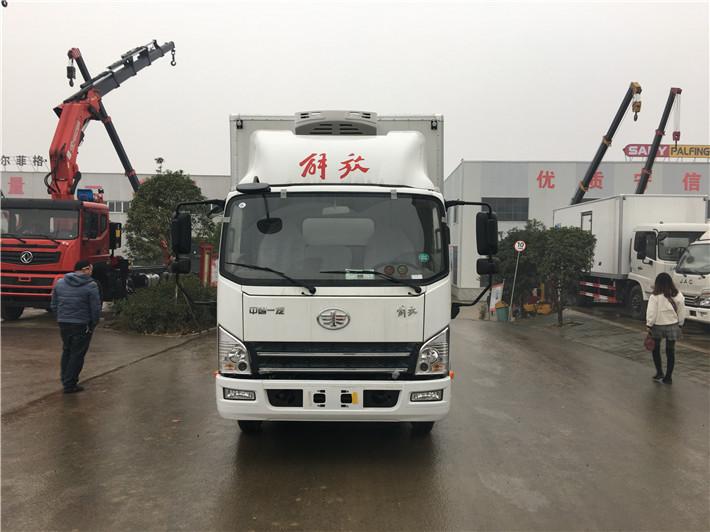 解放虎V蓝牌冷藏车图片