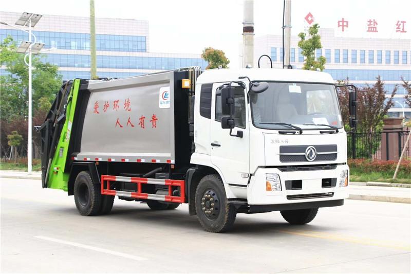 天锦大型挂桶压缩垃圾车垃圾桶采购厂家直销