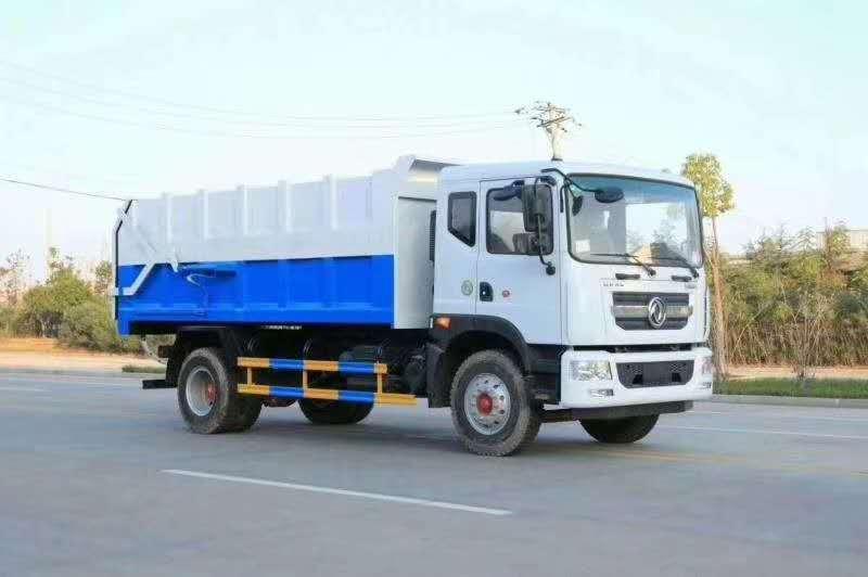 东风大多利卡D9对接自卸式垃圾车图片