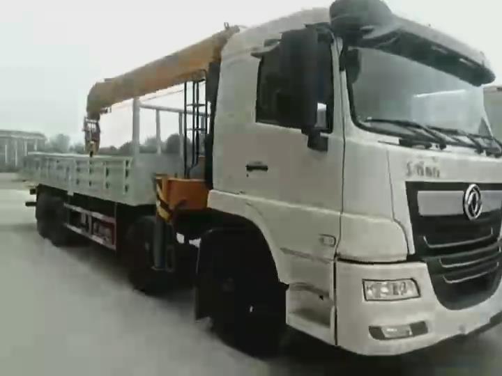新款前四后八14噸隨車吊報價M SQS350-4圖片視頻