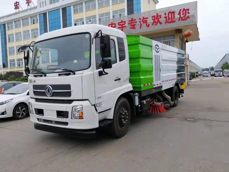 东风天锦洗扫车视频-扫路车价格 洗扫车多少钱