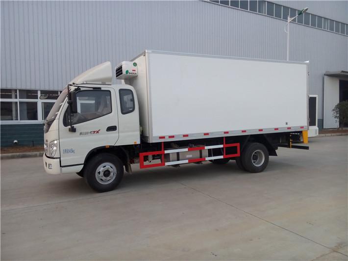 福田欧马可单排5.2米冷藏车