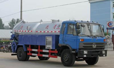 153老款東風12噸清洗吸污車配置哪里的錢