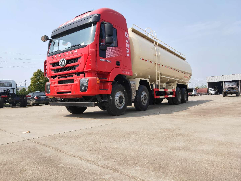 粉粒物料运输车视频图片