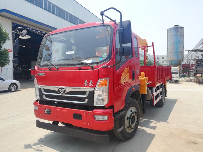 重汽豪曼6.3吨随车吊,中国重汽随车起重运输车