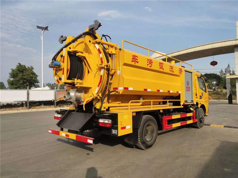 国六市政管道疏通车抽泥浆污水车清洗吸污车图片