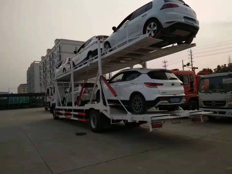东风D12轿运车高配版5位轿运车视频