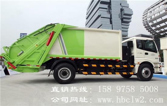 福田欧曼12方压缩式垃圾车图片