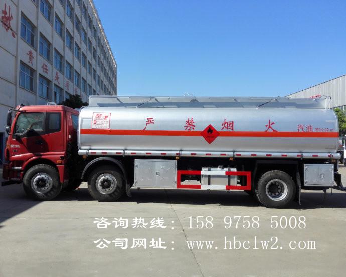 福田欧曼小三轴22方运油车图片