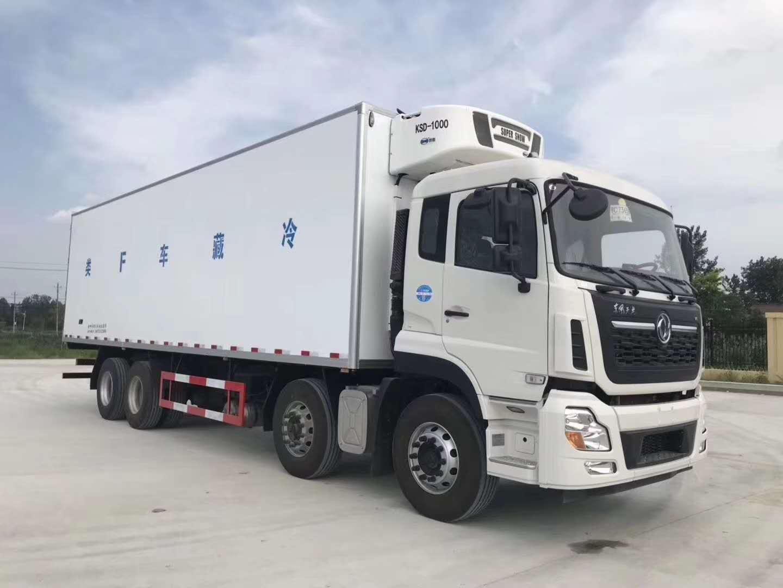 黄牌东风天龙冷藏车配置420马力发动机图片