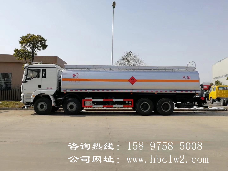 陕汽德龙前四后八22.4吨油罐车 28.5方运油车图片