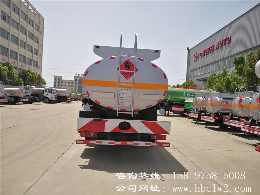 15吨东风天锦小三轴油罐车图片