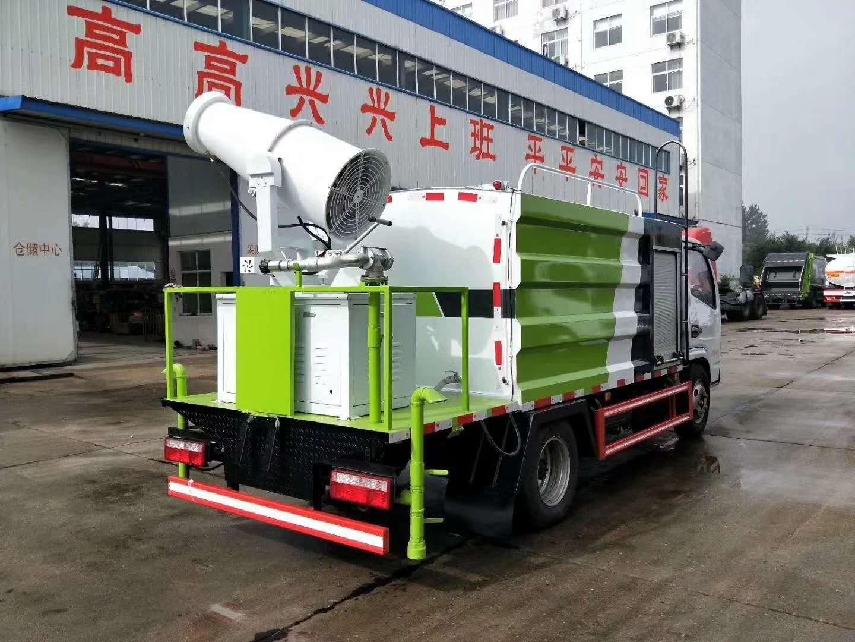 国六东风D6多利卡5吨洒水车蓝牌30米抑尘车
