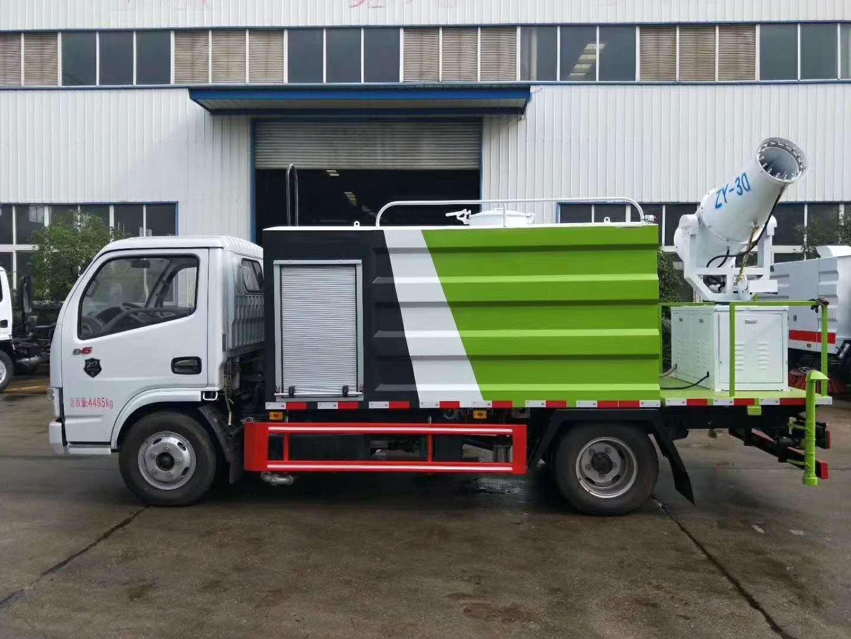国六东风D6多利卡5吨洒水车蓝牌30米抑尘车图片