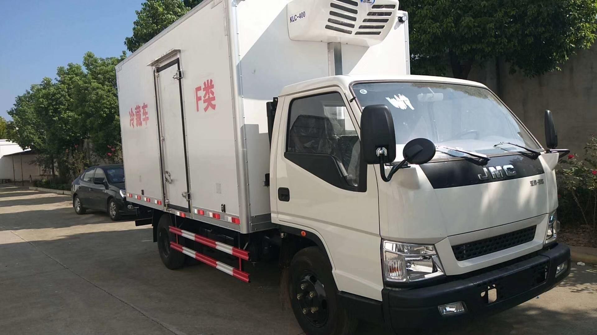 蓝牌江铃顺达4.2米全城配送冷藏车不超重厂家直销图片