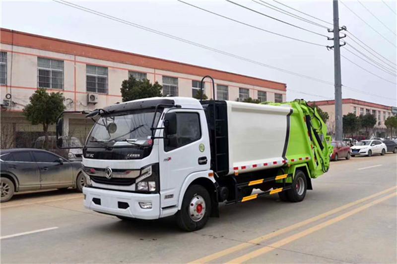 东风8立方垃圾车-压缩垃圾车价格图片