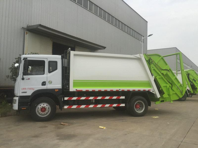 东风6-14立方垃圾车价格-压缩垃圾车图解分析