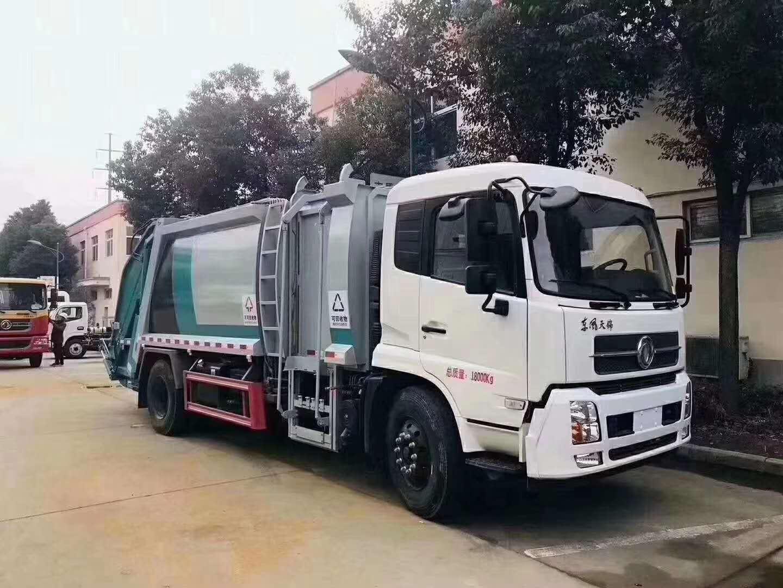 新款垃圾分类车-东风天锦12立方垃圾车视频