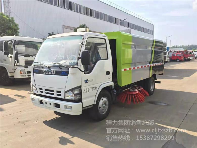 庆铃五十铃5.5m³扫路车