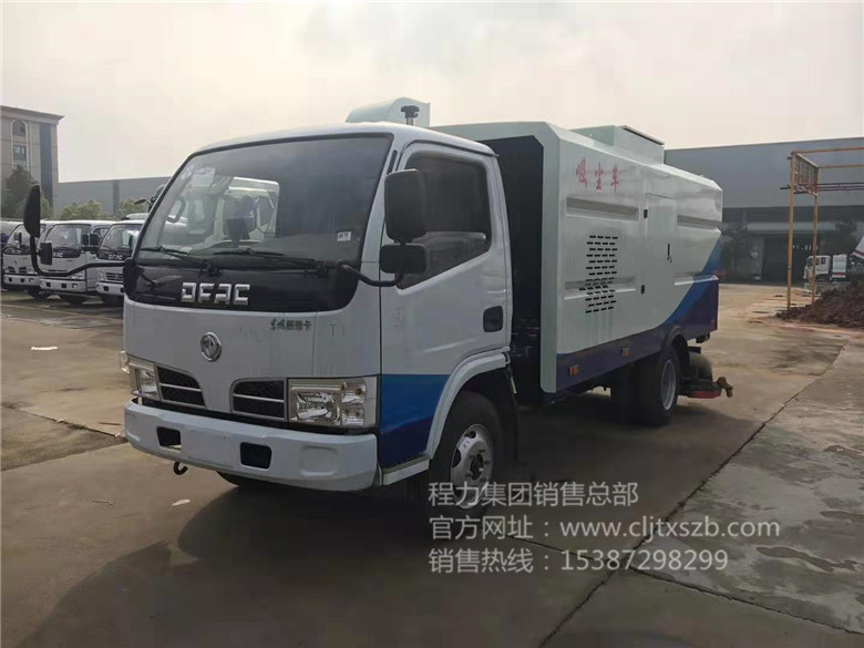 东风多利卡5.5m³吸尘车