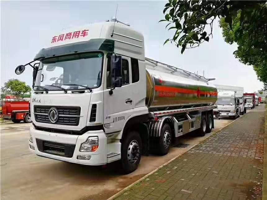东风天龙前四后八 25吨铝合金运油车产品介绍视频